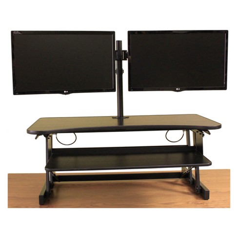 Deluxe Height Adjustable Computer Riser with Monitor Mount - image 1 of 12