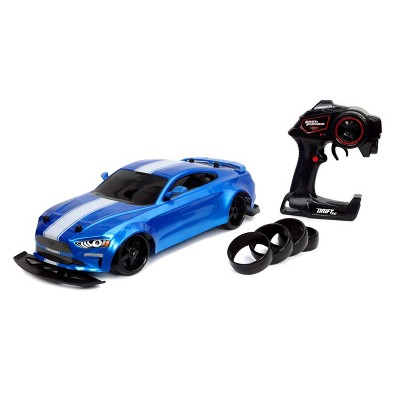 Fast & Furious Elite Drift RC Jakob's Ford Mustang GT Remote Control Vehicle 1:10 Scale-  Blue
