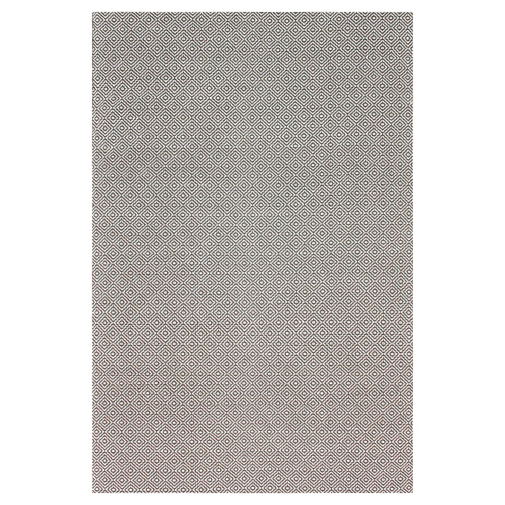 nuLOOM Cotton Hand Loomed Diamond Cotton Check Area Rug - Gray (5' x 8'), Grey