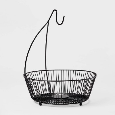 Iron Wire Fruit Basket with Banana Hanger Black - Threshold™