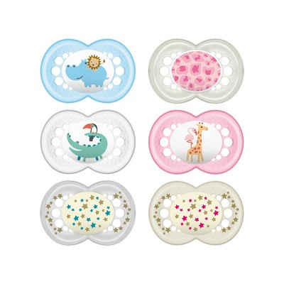 MAM Sensitive Skin Mini Air Orthodontic Pacifier - 0-6 Months - 2ct
