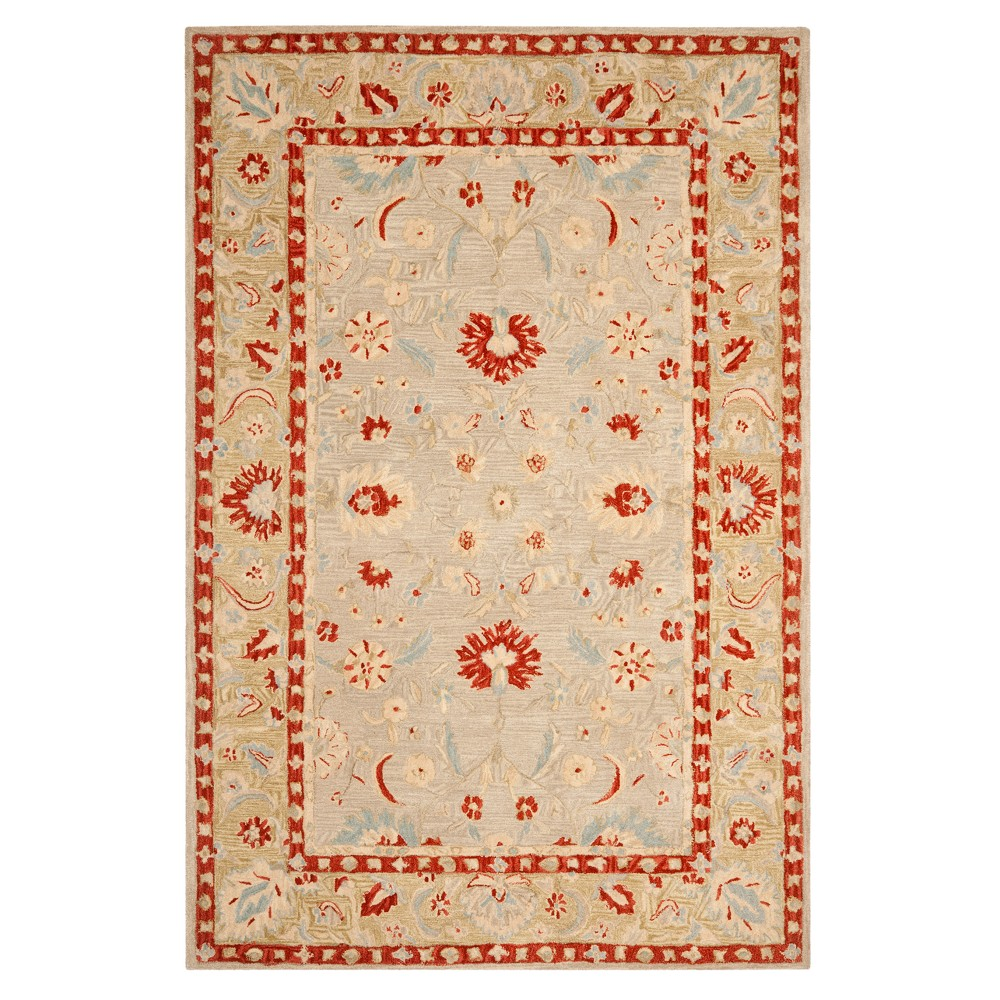 Ivory/Green Floral Tufted Area Rug 6'X9' - Safavieh, White