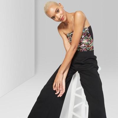 6da66ec3d7 Women s Sequin Metallic Tube Top – Wild Fable™ Silver M – BrickSeek