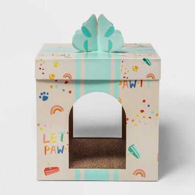 Single Level Birthday Present Cat Scratch House - Boots & Barkley™