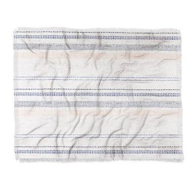 60 X50  Holli Zollinger French Stripe Throw Blanket Blue - Deny Designs