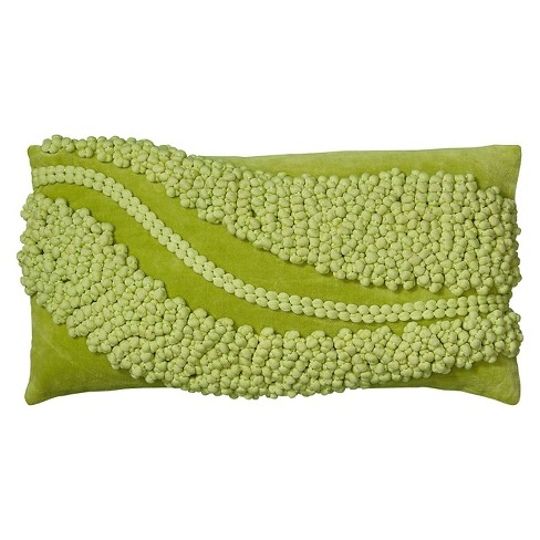 Applique Waves Accent Throw Pillow - Rizzy Home® - image 1 of 1