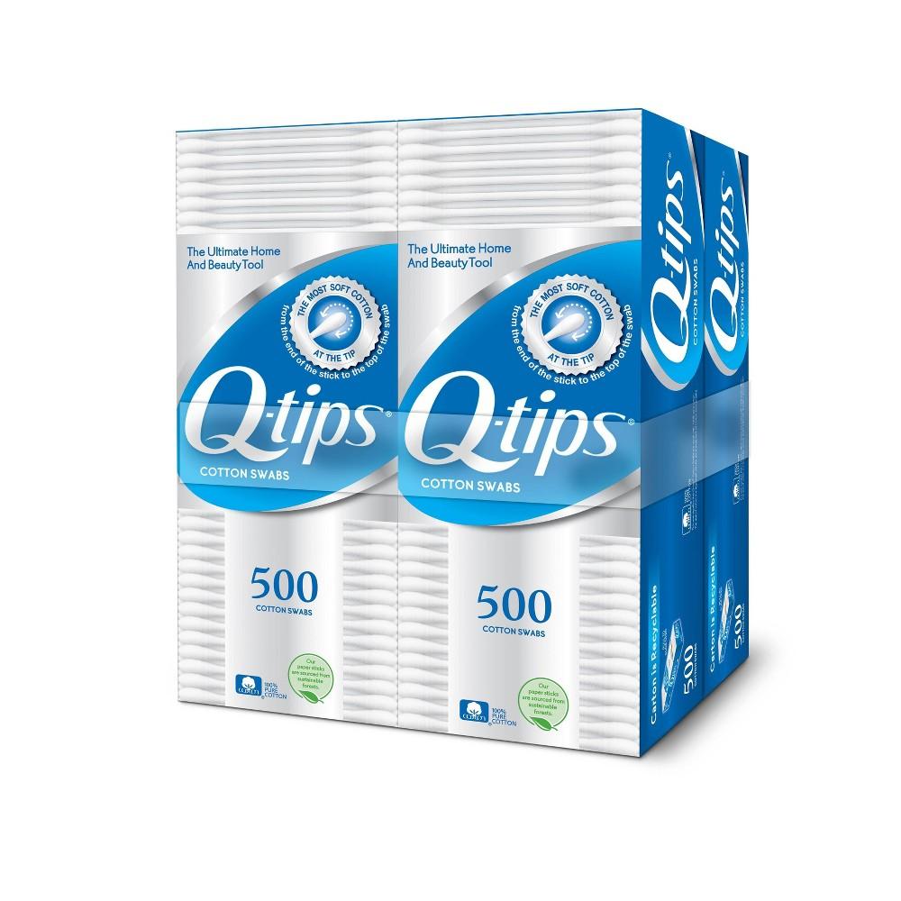 Image of Qtips Cotton Swabs - 500ct/4pk