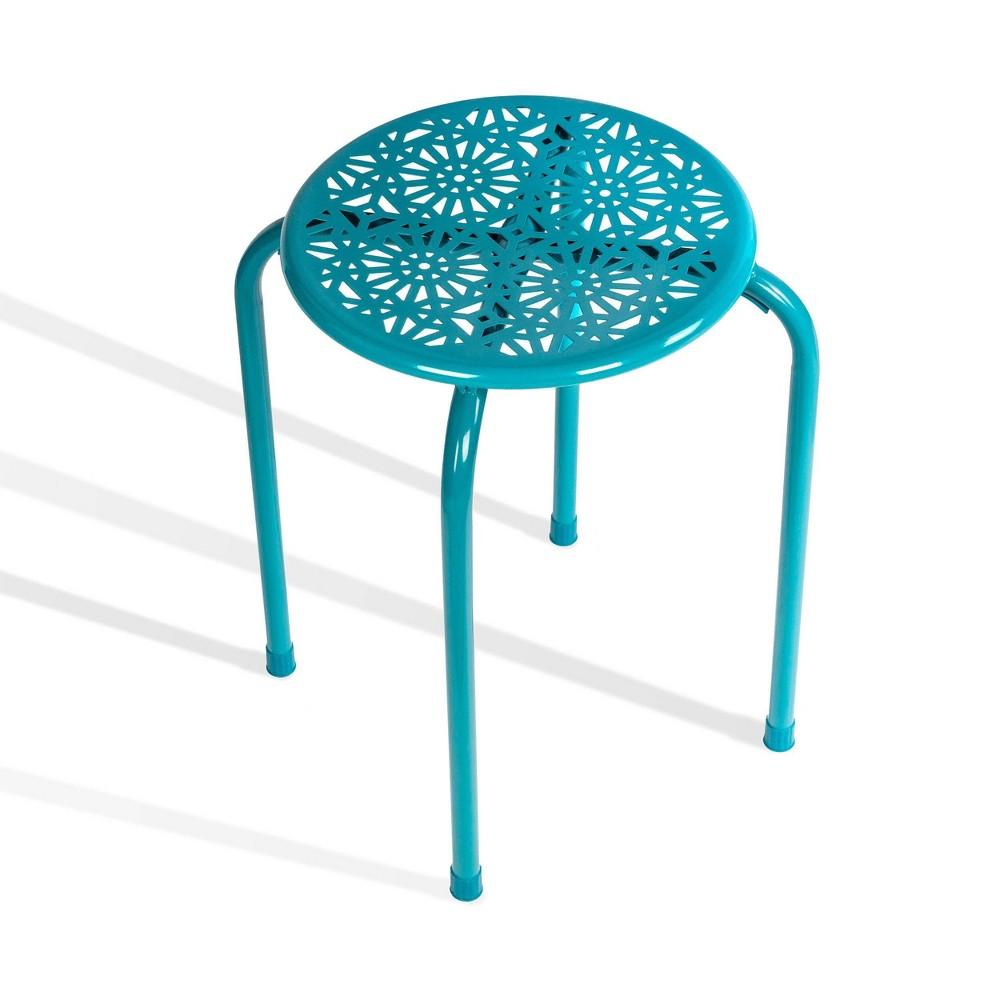Image of 6pk Daisy Stackable Stool Blue - Atlantic