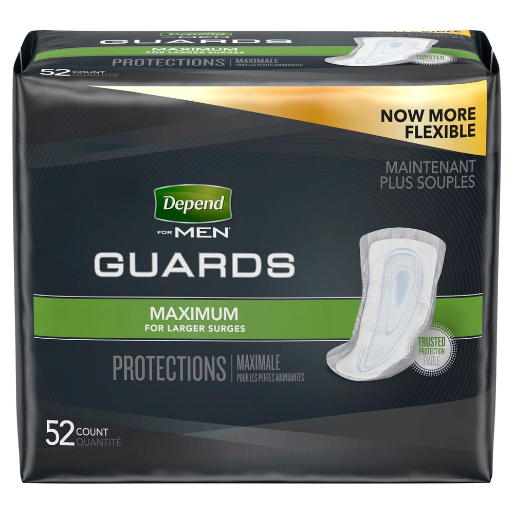 Depend Guards for Men - Maximum Absorbency - 52ct, White