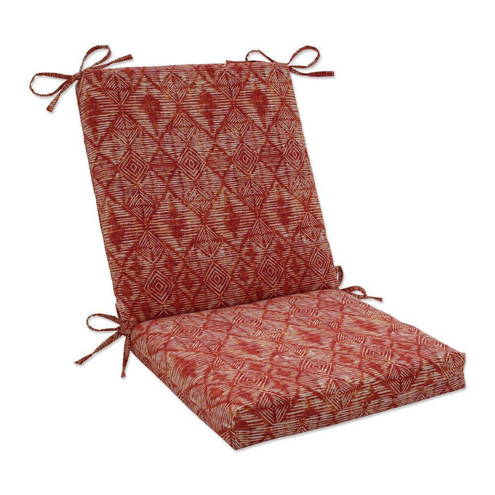 18 34 X 18 34 Outdoor Indoor Squared Chair Pad Nesco Sunset Red Pillow Perfect