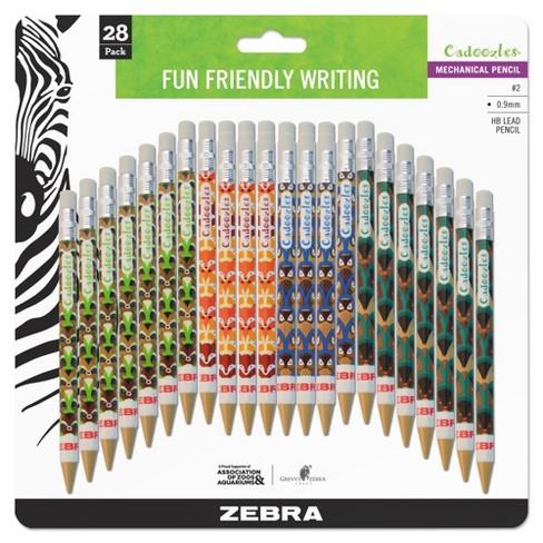 ZEBRA CADOOZLE MECHANICAL PENCILS Pack of 10 fun design pencils!
