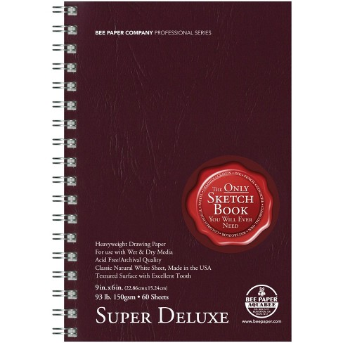 Bee Paper Super Deluxe Mixed Media Spiral Sketchbook, 11 x 14 Inches, 93 lb, 60 Sheets - image 1 of 1