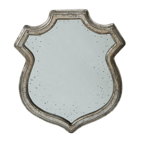 Small Wide Empire Crest Mirror Antique Silver - A&B Home - image 1 of 1