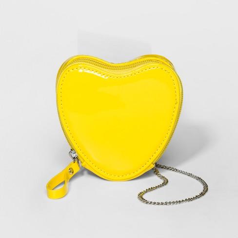 48f9d4a15c Girls  Heart Crossbody Bag - Cat   Jack™ Yellow   Target