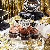 Blue Panda 100 Pack Congrats Grad Cupcake Toppers Picks Cake Decor, 2021 Graduation Party Supplies Decorations - image 2 of 4