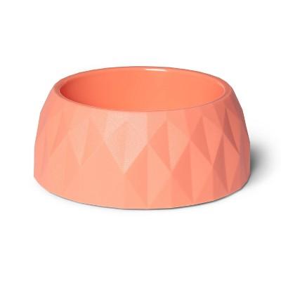 Diamond Cut Dog Bowl - Light Coral - 4cup - Boots & Barkley™