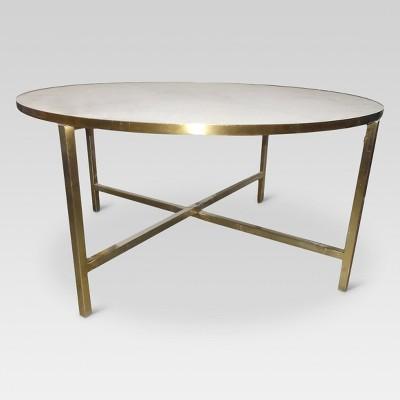 Round outdoor coffee table White Target Marlton Round Coffee Table Threshold Target