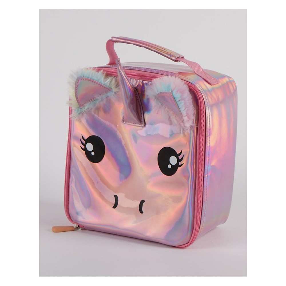 Image of Unicorn Lunch Bag - Holographic, Pink