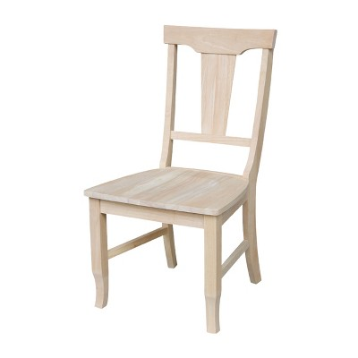 Set of 2 Panel Back Chair Unfinished - International Concepts