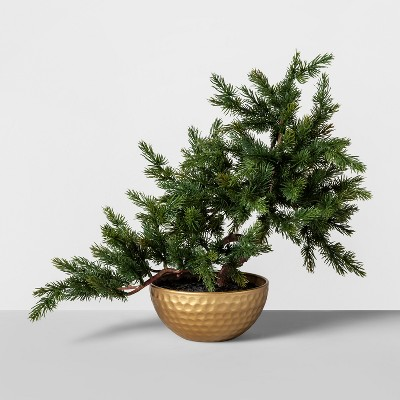 16  x 14  Artificial Bonsai Tree Green/Gold - Opalhouse™