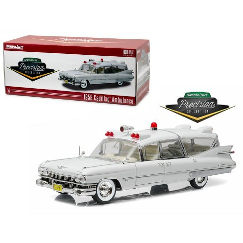 1959 Cadillac Ambulance White Precision Collection Limited Edition 1/18 Diecast Model Car  by Greenlight - image 1 of 3