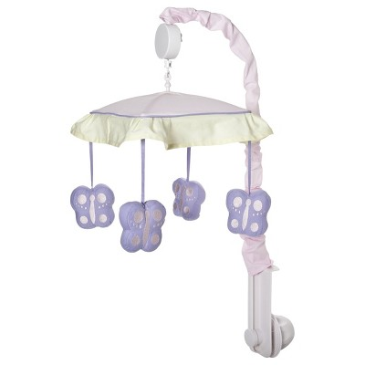 Sweet Jojo Designs Musical Mobile - Pink & Lavender Butterfly
