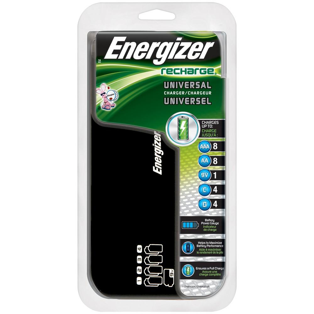 Energizer Recharge Universal Charger (Chfcv), Black