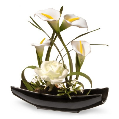 11  White Rose and Calla Lily Flowers - National Tree Company