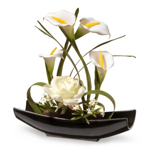11 White Rose And Calla Lily Flowers National Tree Company Target