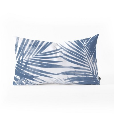 Emanuela Carratoni Serenity Palms Throw Pillow Blue - Deny Designs