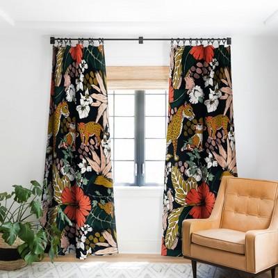 Marta Barragan Camarasa Animal Print Dark Jungle Single Panel Blackout Window Curtain - Deny Designs
