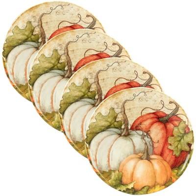 11  4pk Autumn Fields Ceramic Dinner Plates - Certified International