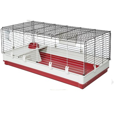MidWest Homes For Pets Wabbitat 158XL Extra Large Rabbit, Guinea Pig, Hamster, and Small Animal Home Cage with Water Bottle, Food Bowl, and Hay Feeder