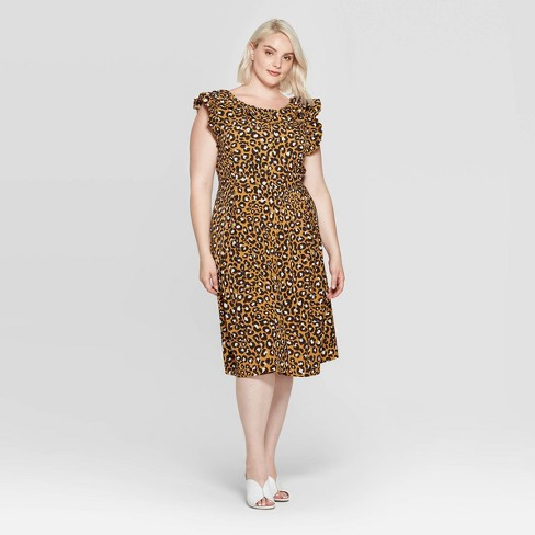Women's Plus Size Sleeveless Boat Neck At Knee Dress - Who What Wear™ - image 1 of 3