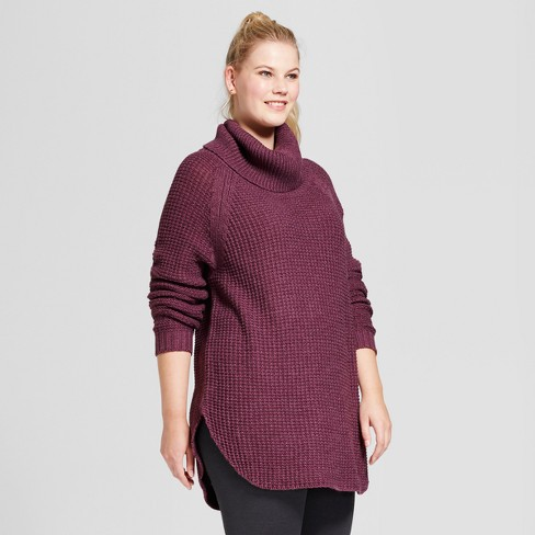 53569b1d7e2 Women s Plus Size Chunky Cowlneck Sweater - A New Day™   Target