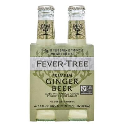 Fever-Tree Premium Ginger Beer - 4pk/200ml Bottles