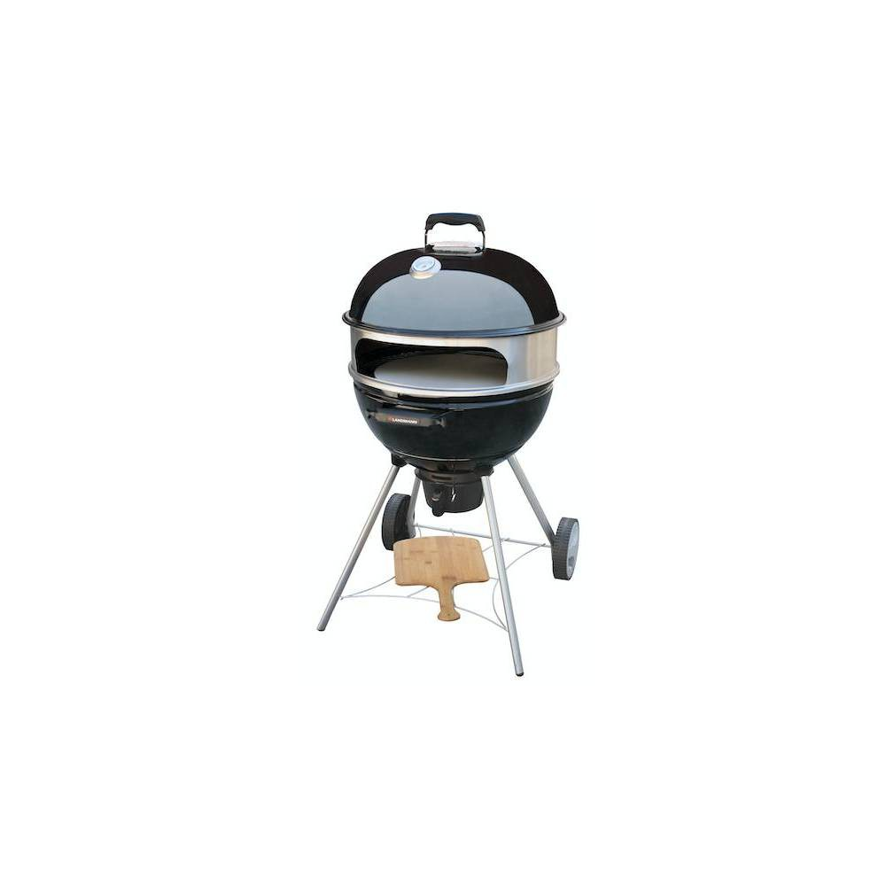 "Image of ""22.5"""" Kepler 350 Kettle Charcoal Grill 525142 with Pizza Kettle Kit Black - Landmann"""