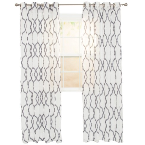 "Elisa Embroidered Curtain Panel 108""x54"" - Yorkshire Home - image 1 of 4"