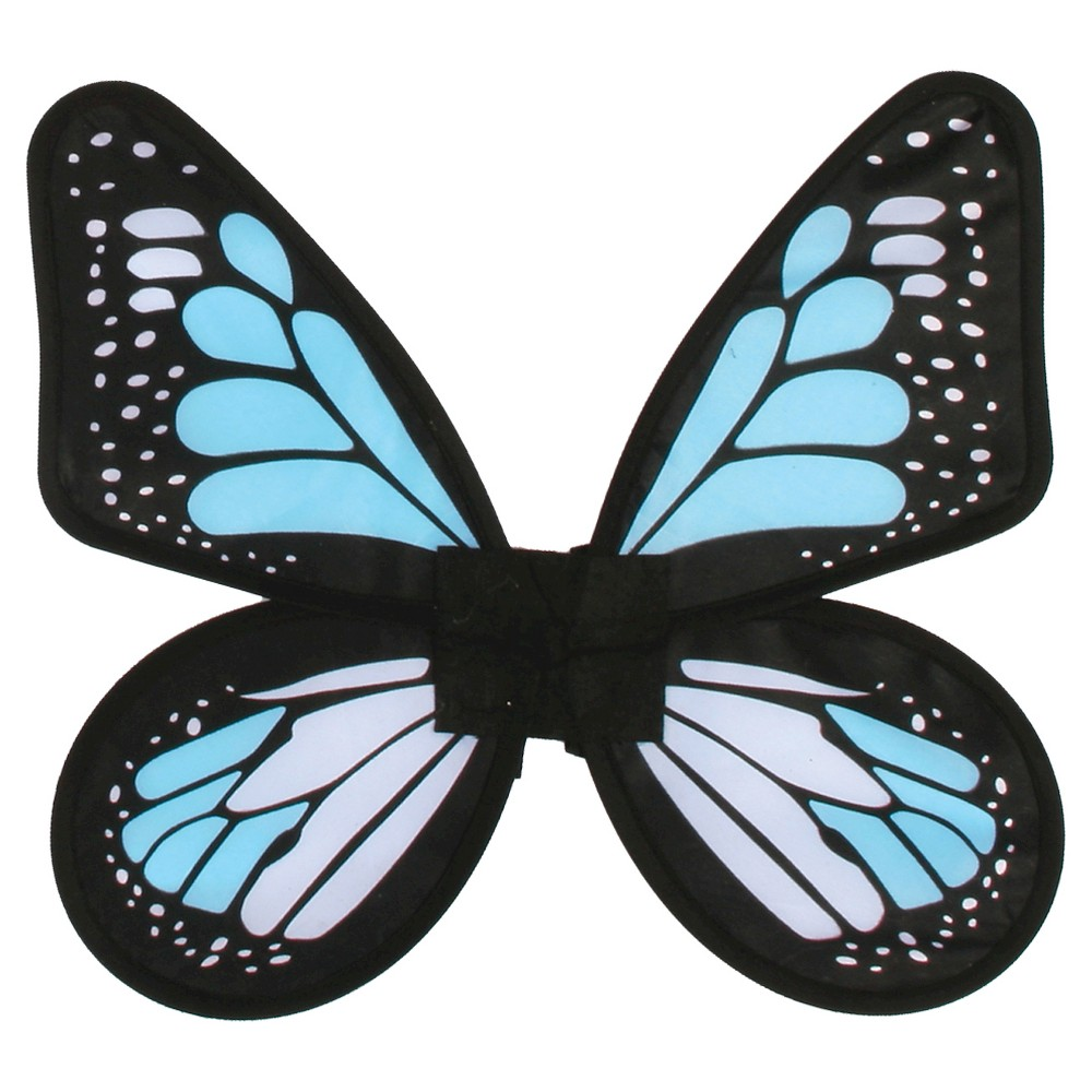 Satin Butterfly Wings Blue - One Size Fits Most, Women's, Multi-Colored