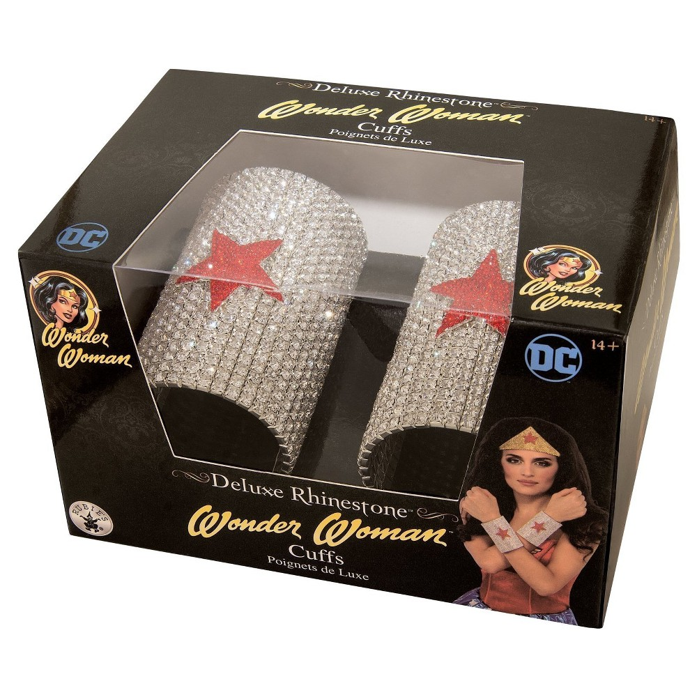 Image of DC SUPERHERO - Wonder Woman Super Deluxe Rhinestone Cuffs in a Box