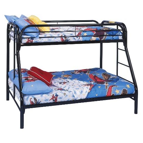 metal bunkbed kids bed frame twin full black target. Black Bedroom Furniture Sets. Home Design Ideas