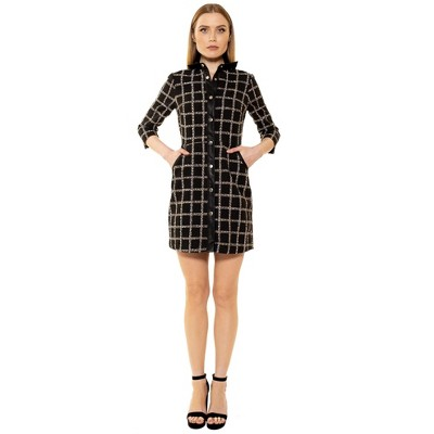 Alexia Admor Reaghan 3/4 Sleeve Button Down Dress