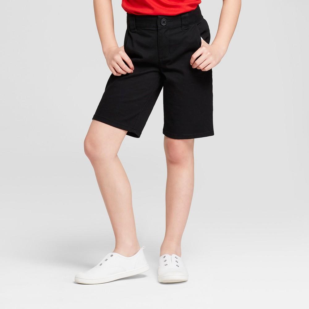 Girls' Chino Uniform Shorts - Cat & Jack Black 16