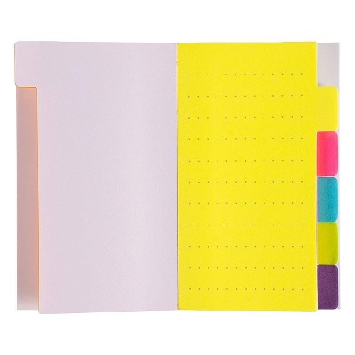 Sustainable Greetings 6-Pack 60 Sheets Sticky Notepad Note Tabs with Lined Paper & 6 Index Tabs, 3 x 5 in
