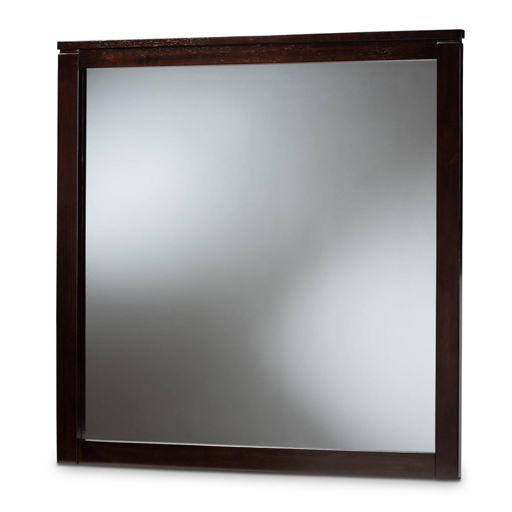 Image of Eaton Dresser Mirror Dark Brown - Baxton Studio