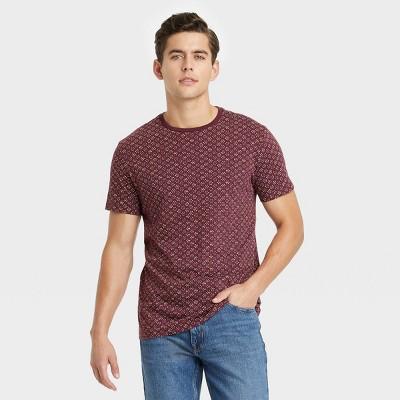 Men's Printed Regular Fit Short Sleeve Crewneck T-Shirt - Goodfellow & Co™