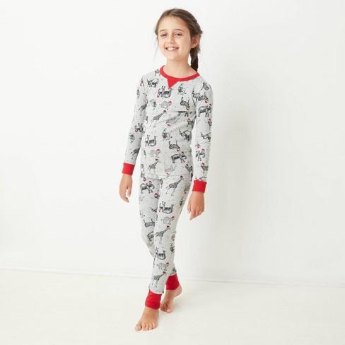 Kids' Holiday Safari Animal Print Matching Family Pajama Set - Wondershop™ Gray - image 1 of 4