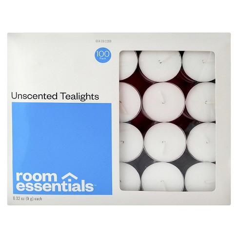 100pk Tealight Candles White - Room Essentials™ - image 1 of 1