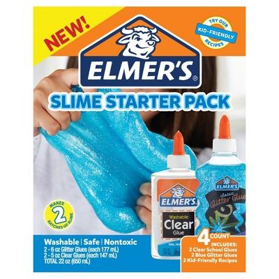 Elmer's Slime Starter Pack 4pc   Blue by Blue