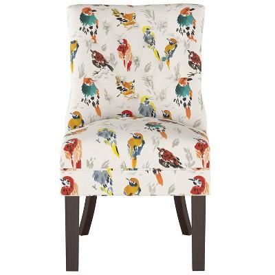 Winslow Tufted Back Chair Multi Bird Print - Threshold™